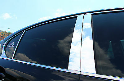 Chrome Pillar Posts fit Cadillac Deville 94-99 6pc Set Door Trim Mirrored Cover