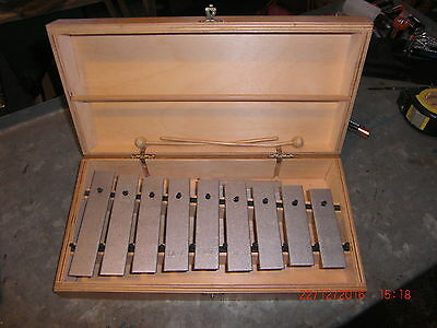 Vintage Wooden Xylophone & Hammers.