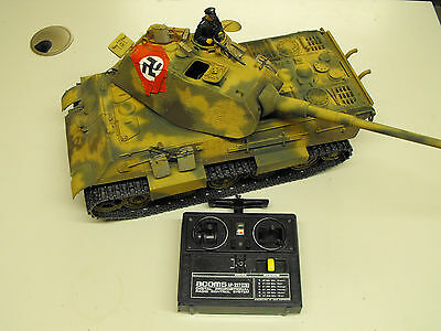Tamiya 1/16  King Tiger Tank with Porsche turret  Acoms radio controlled