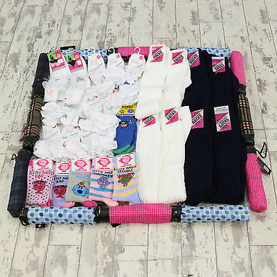 WHOLESALE NEW SOCKS & UMBRELLA JOBLOT Adults Knee length, Frilly, Mr men X59