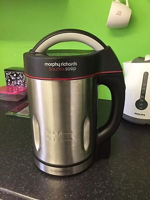 Morphy Richards 501013 Soup Maker with Serrator Blade Brushed Stainless Steel