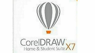 CorelDRAW Home and Student Suite X7  3 user Free  Shipping!