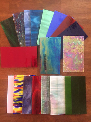 """Stained Glass Sheet Variety Pack of 10- 7"""" X 4"""" Pieces of Premium Glass!!!"""