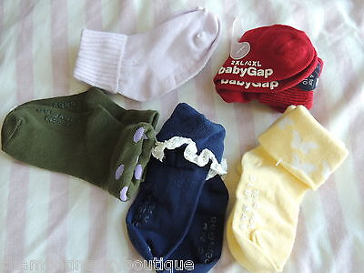 5 Pair Baby Girls Size 12-24 Months  OLD NAVY & BABY GAP Socks NEW