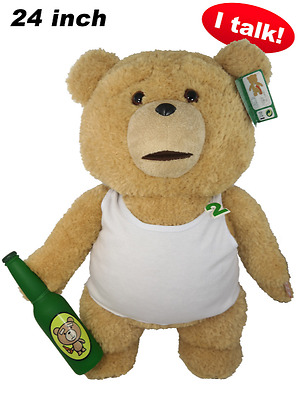 """NWT Ted 2 Movie-Size Talking Teddy Bear Explicit Doll in Tank Top, 24"""" IN STOCK"""