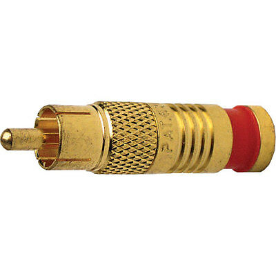 Platinum Tools 18058 RCA RG6 Quad Compression Connector, Gold Plate. 6/Clamshell
