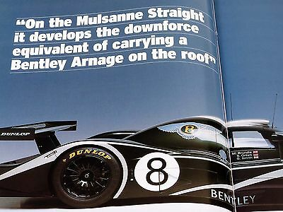 Bentley at Le Mans Autocar Brochure Booklet - Back in the Fight - 2001