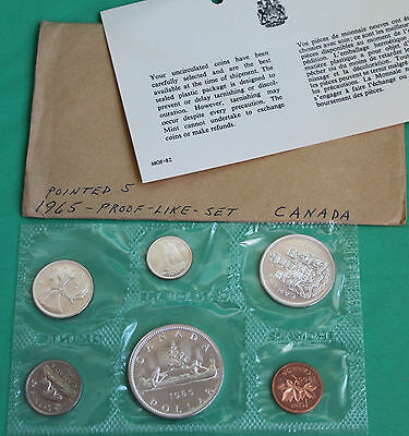 1965 Canada Proof Like Canadian Silver 6 Coin RCM Set PL Complete