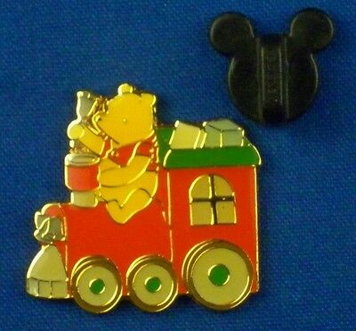 Disney Pin Classic Winnie the Pooh on Christmas Train with Presents # 6639