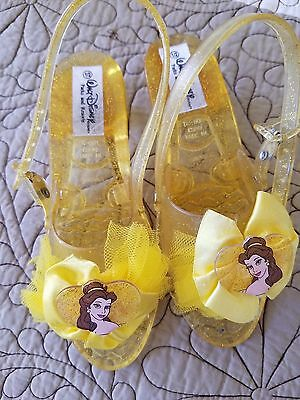 Disney Sparkle Princess Belle Dress Up Costume Slippers Shoes Girls