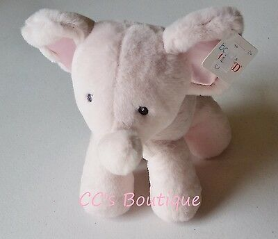 """BABY GUND Bubbles plush elephant toy NWT girls gift 11"""" boutique pink stuffed"""