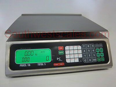 Torrey PC80, 80 x .02 lb Price Computing Deli Meat Digital Scale - All Stainless