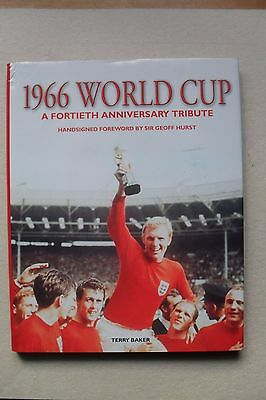 1966 world cup 40th anniversary book signed by 9, Ball, Hurst.