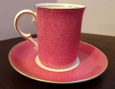 George Jones & Sons Crescent China Speckled PInk Coffee Can & Saucer
