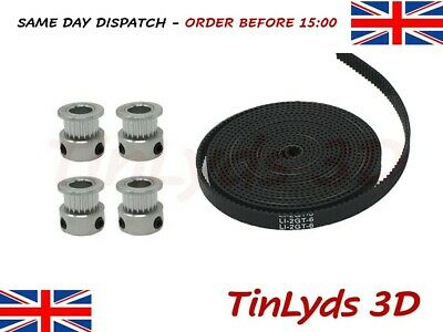 GT2 6mm Timing Belt and Pulleys, 20 Teeth 8mm Shaft Prusa Reprap 3D printer part