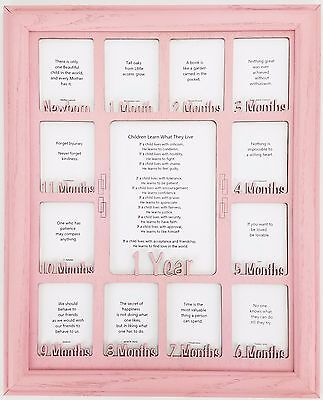Baby's 1st Year Picture Frame - Personalized with any Name - Custom Frame