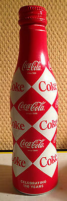 "Coca Cola FULL Ltd Bottle ""CELEBRATING 130 YEARS"" From The Netherlands RARE !!!"