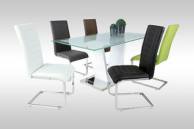 """Modern Dining Chair """"Ruth"""" Leather in various colors"""