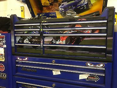 "Valentino Rossi,Marc Marquez  Tool Box Decal Graphics Fits Snap On 40"" Split"