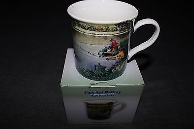 Fine Art Gallery Collection Fine Art China Fishing Mug