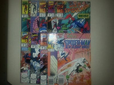 Lot of 10 Web of Spider-Man Comics; mid to high grade; please see description
