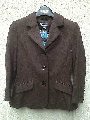 """Canberra Childs 30"""" Chest Brown Tweed Hacking Jacket"""