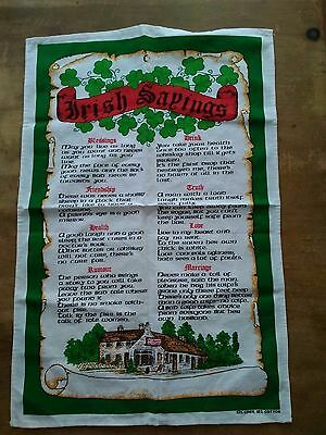Vintage Tea Towel Classic Irish Sayings