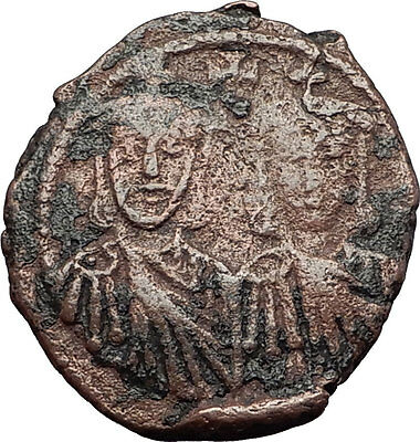 LEO III & CONSTANTINE V 717AD Follis Authentic Ancient Byzantine Coin i59622
