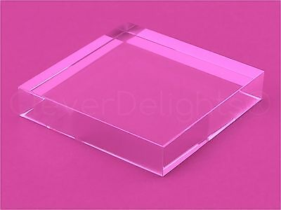 "10 Pack - 3"" Square Glass Tiles - Clear Solid Glass Tiles - 3 x 3 x 5/8 Inch"