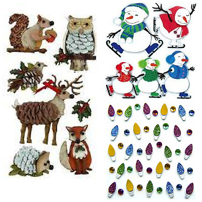 BUY 3 GET 2 FREE Jolees Boutique Sticko Recollections & More Christmas Stickers