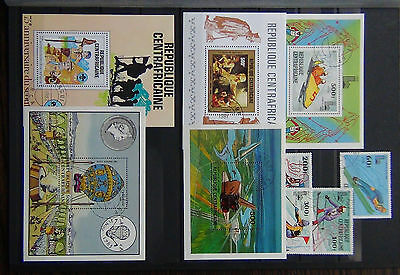 Central African Republic 1979 Olympics set M/S 1981 Rembrandt M/S 1982 Scouts Ms