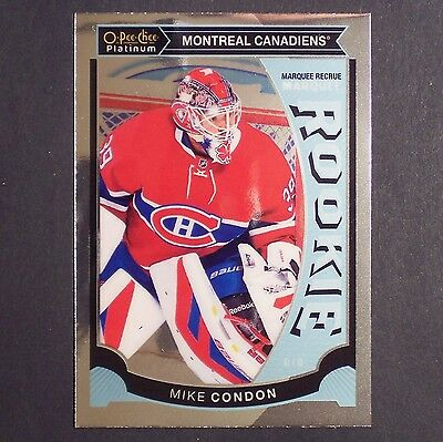 MIKE CONDON  RC  2015/16 OPeeChee Platinum Rookie #M32 Montreal Canadiens single