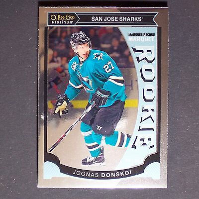 JOONAS DONSKOI   RC  2015/16 OPC Platinum #M16  San Jose Sharks  Rookie Single
