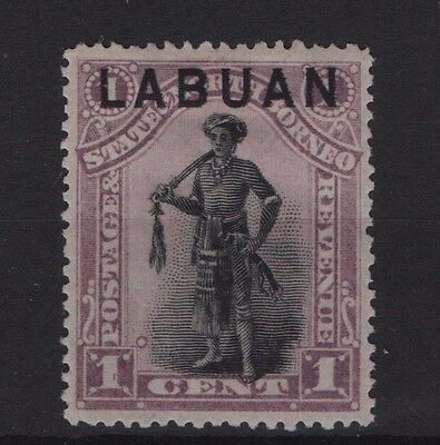 LABUAN SG 62 1894 1c overprint on North Borneo Perf 14½-15 Mounted Mint