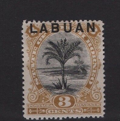 LABUAN SG 64 1894 3c overprint on North Borneo Perf 14½-15 Mounted Mint