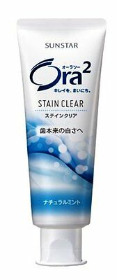 Ora2 Stain Clear Whitening Toothpaste 130g Natural Mint Sunstar Japan