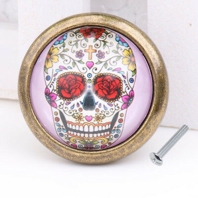 Retro Skull Cabinet Door Wardrobe Drawer Cupboard Knob Pull Handle Decor #10