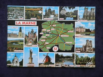 Vintage French Postcard Departement de La Marne