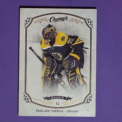 MALCOLM SUBBAN  RC  2015-16 Champ's Rookie #256  Boston Bruins  Rookie