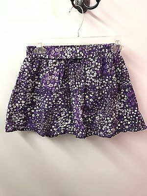 Place Skort 12 Purple Floral Skirt With Shorts Under Cotton Euc