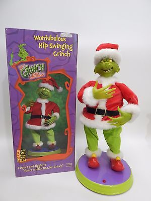 GEMMY Wontubulous Hip Swinging Grinch Your A Mean One Dr Seuss Dancing Musical