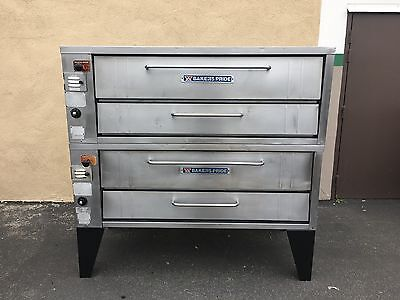 bakers pride 4151 (4152) double deck pizza ovens  -  completely reconditioned