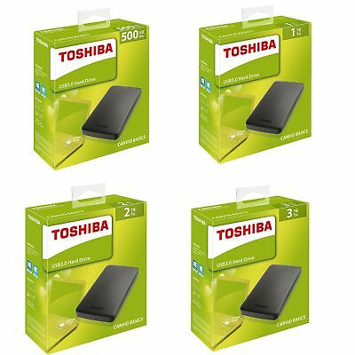 HDD Disque dur externe 2,5 500 GO GB 1TO 2TO 3TO TB TO Portable Toshiba USB 3.0