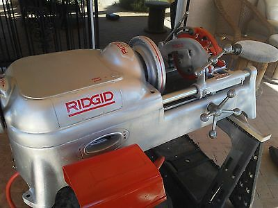 Ridgid 535 Pipe Threader With Foot Pedal,815 Die Head w Dies,New Support Tubes