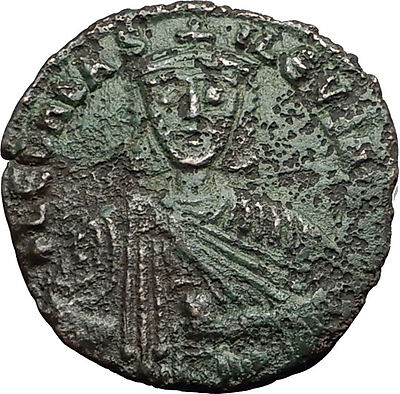 LEO VI the WISE 886AD Constantinople Follis Medieval Byzantine Coin i59445