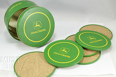 John Deere farm tractor Coaster set Kitchen dining bar 6 pc set w/tin