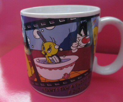 Looney Tunes Tweety Sylvester Coffee Mug  Everyone LovestoGet Applause 1995