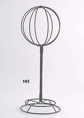 "Vintage Tabletop  Metal Wire Hat/Wig Stand 22"" Tall Hats/Wigs Display Ball"