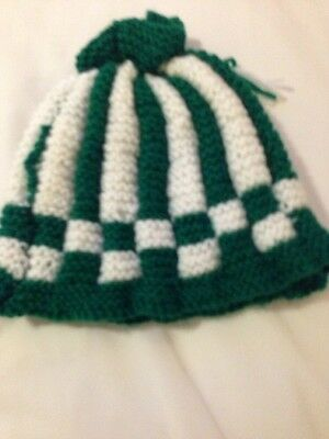 White Green Tea. Cosy 3 Egg Warmers Hand Knitted New