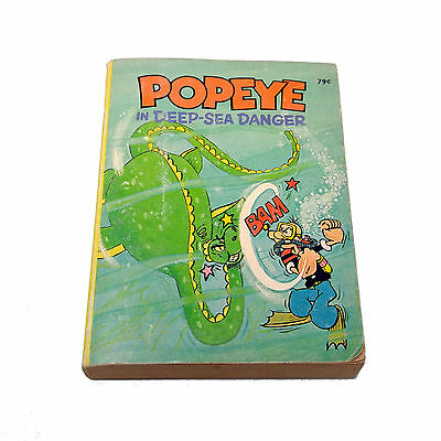 Popeye in Deep-Sea Danger, Paul Newman, a Whitman Big Little Book, 1980